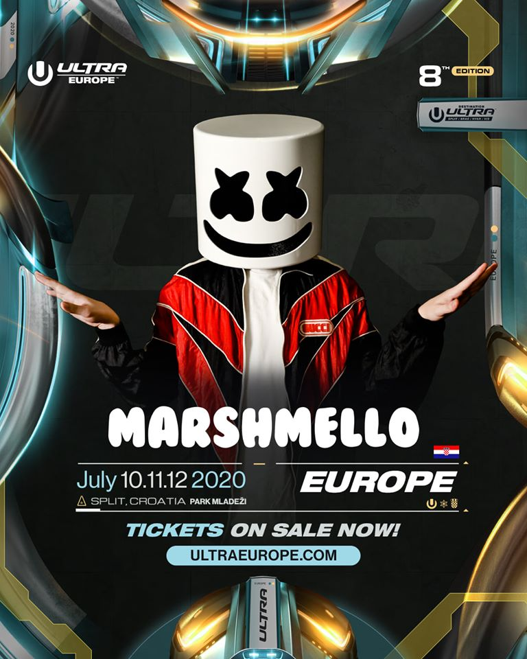Marshmello, lineup 2020, Ultra Europe 2020 z Marshmello