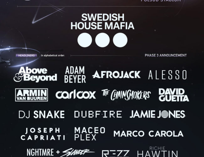 UMF Europe. Ultra Europe 2019, Lineup Ultra Europe